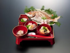 日本料理 笹乃庄でのお食い初め